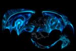 Sternenschwinge: ein komplett schwarzer Drache mit einem Galaxiemuster in den Flügeln genaues Aussehen ist der Nebula Drache aus Dragon Cave ^^ Nacht