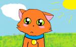 Meine erste Zeichnung mit Paint die etwas gut gelungen ist ps: das ist Sammy von Warrior Cats:)