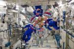 Astronauten in der Iss