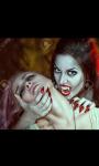 Das Opfer wir gleich gnadenlos von der sexy Vampirin gebissen und ausgesaugt