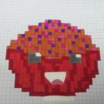 Das ist ein lacht After Versuch etwas in Pixelart zu malen... Und es ist KEINE Schüssel mit Cornflakes! Egal was ihr sagt, es soll ein Muffen sein! D