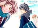 Ao Haru Ride. Als Yoshioka Futaba und ihre Freunde im Haus von Mabuchi Kō zusammen lernen, gibt es eine kleine Zwischenszene mit Futaba´s Freundin M