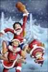 Weihnachts-Spezial Luffy und die anderen waren mit der 'Thousend Sunny' auf dem Meer und bereiteten Sachen, für den morgigen Tag, vor. Morg