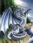 Der Silber Drache: Der Silber Drache ist ein guter Freund auch wenn er seinen eigenen Kopf hat aber wenn sein Reiter in Gefahr ist versucht er alles u
