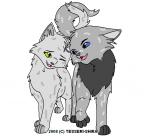 Aschenpelz und Rauchfells Geschwister die am grünen husten verstorben sind hiessen Efeujunges, eine weisse Kätzin mit schwarzer Tigerung und bernste
