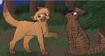 Auch wenn Tigerstern vor den anderen aus dem Wald der Finsternis immer so tat als ob sie ihm egal wären liebte er Goldblüte und Sasha trotzdem immer