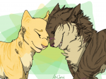 """Einige der Eins sind der Meinung dass Goldblüte Tigersterns wahre Liebe war und Sasha nur eine Art """"freundschaftliche Beziehung"""", andere be"""