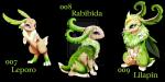 Der Pflanzen Starter der Region: Leporo Leporo ist ein Pflanzen Pokémon, die sehr lebhaft und neugierig sind. Es sieht aus wie eine Prinzessin und er