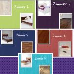 ((unli)) DIE ZIMMER ((eunli)) ((purple)) Zimmer 1:((epurple)) ((red)) VOLL! ((ered)) ((purple)) (Wände: dunkellila, Boden: alte, dunkle Dielen, weiß