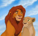 #Nala's Sich# Nun merkte ich einen messerscharfen Stich im Bauch. Sofort sackte ich halb bewusstlos zusammen. «Simba!», rief und quälte ich vo