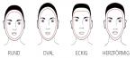 Wo würdest du deine Gesichtsform zu einordnen (siehe Bild)?