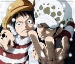 Trafalger D. Water Law und Monkey D Ruffy gehen in dem Anime ONE PEACE eine Allianz ein.