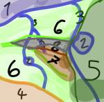 ((bold)) Die Arena ((ebold)) 1. Großer See 2. See 3. Flüsse 4. Getreidefeld 5. Nadelwald 6. Laubwald 7. Sumpf 8. Gebirge (hoffe man kanns erkennen ^