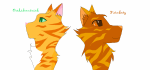 ((cur))Anführerin:((ecur)) ((bold))Kamillenblatt((ebold)) weiße Kätzin mit braunen Tupfen und blauen Augen ((cur))2.Anführer:((ecur)) ((bold))Lich