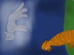 Der arme Borkenpelz. Was er wohl tut wenn Rauchfell in die letzte Hoffnung stirbt? Ich kann ihn mir ohne sie nicht vorstellen..... (Das Bild ist wiede