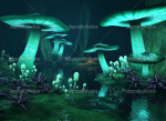 DIE DUNKELHÖHLEN: Höhlen die weit in die Erde reichen, bestückt mit seltsamen Schlingpflanzen und Pilzen die im Dunkeln leuchten. Hier leben meist