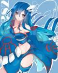 Name: Karina Melicia Spitzname: Karin ; Rina Alter: 17 Geschlecht: weiblich Pokémon Art: Kyorgre Aussehen: blaue haare die ihr bis zur Hüfte gehen u