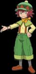 Name: Manon Alter:14 Geschlecht: Weiblich Pokémon Art: Zygarde (Roter Kern) Aussehen: Siehe Bild Attacken: Drachenwut, Turbotempo, Erdbe ben, Tausend