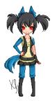 Name: Lura Alter: 14 Geschlecht: Weiblich Pokémon Art: Lucario Aussehen: Groß, braune Haare und blaue Augen, kühl, stark, besonders Attacken: Auras