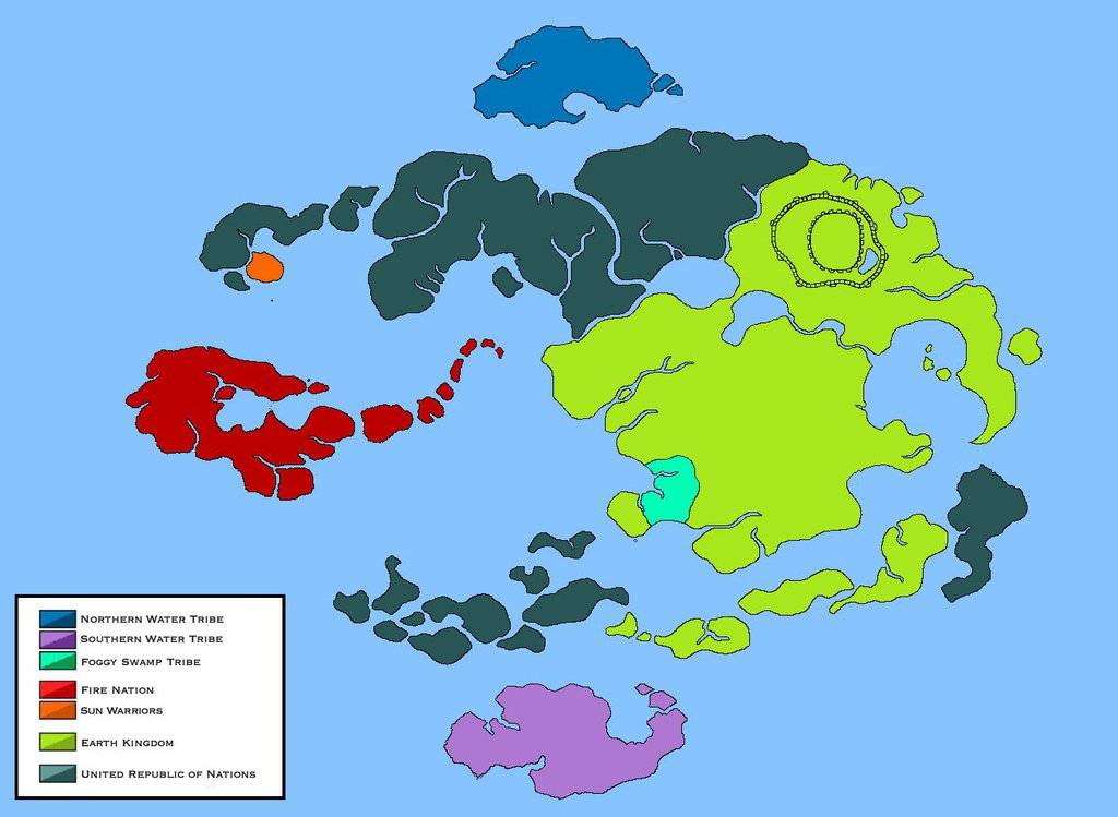 Avatar The Last Airbender Map Republic City