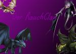 Die Hierarchie des RauchClans: Alpha: Betas: SCHWARZKRALLE - Riesenhafter Albtraum Titanflügler, schwarze Schuppen und Flügel mit roten Streifen, gr