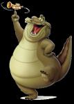 ... der Trompeten spielende Alligator.