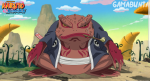 Wie heißt der Chef der KrötenGeister den auch Naruto hinaufbeschwören kann?