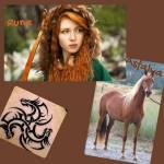 Name: Runa (Nachname unbekannt, schon lange in Vergessenheit) Geschlecht: Weiblich Alter: 18 Aussehen: Rotbraune/Orangene Haare, die locker in kleinen