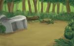 ((big))Die Lager((ebig)) ((green))DonnerClan Lager((egreen)) Das Lager des DonnerClans liegt tief verborgen in dem Territorium des Clans. Sprich es be