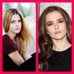 ((bold))Laura Berlin und Zoey Deutch((ebold)) Vor allem in ihrem Blick ist viel Ähnlichkeit vorhanden.