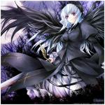 Das bin ich: Name: Kuraiko Moonlight Alter: 15 Art: Todesengel Waffe/n: Sense und Dolch Aussehen: schwarze Haare mit blutroten Spitzen, blutrote Augen