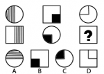 Figurenreihen: Welche Figur ersetzt das Fragezeichen?