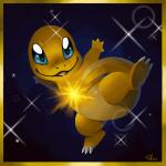 Das ist Lunas Shiny Glumanda! Es trägt einen Gluraknit X bei sich.