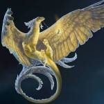 Name: Flausam Typ: Fee/Drache Aussehen: beiges, leuchtendes Fell, Katzenpfoten, anmutiger Körper, anmutiger Drachenähnlicher Kopf, Federn am Hinterk