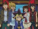 Yugi, Yami, Tea, Joey, Serenity, Duke und Tristan sind Freunde?