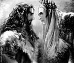 Kapitel 11 Thorin oder Thranduil (Sichtwechsel Thorin) Ich öffne die Augen. Oh, dieser Traum war das Schlimmste. Ich sehe in Brins Gesicht und denke
