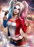 Also nun zu meinen Steckbrief Name: Harley Quinn Art: Böse Wahrer Name: Harleen Frances Quinzel Fähigkeiten:Überraschende Stärke und Ausdauer Übe