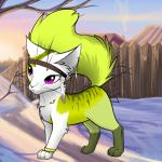 ((fuchsia))Sarah((efuchsia)) Sarah ist eine hübsche Fantasy Katze mit Verstand Name: Sarah Geschlecht: W Aussehen: Weiß gelbe Kätzin mit violetten