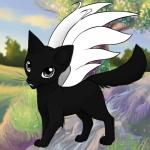 ((blue))Moon((eblue)) Moon wurde sich von Luna nightmare gewünscht Name Moon Geschlecht w Aussehen Schwarze Katzin mit weißen Blüten anlchen muster