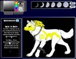 Name: Saphira Alter: 5 Geschlecht: Weiblich Aussehen: Siehe Bild, sieht sehr besonders aus Rang: Alpha Wölfin Verliebt in: Eis Gefärte: Eis Welpen: