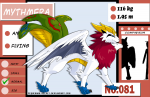 ((purple))Das erste und sanftmütigste Mitglied der Leibgarde ist ((bold))Mythmera((ebold)), ein Flug/Psycho Pokémon, das einen geflügelten Löwen �