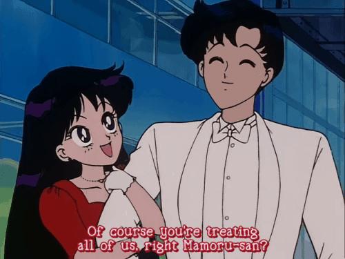 Rei war anfangs mit Mamoru zusammen
