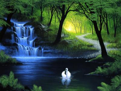 """Der """"Mondsee"""" Ein See inmitten des großen Waldes. Er ist nicht ungefährlich. . . Aber wunderschön! Man kann dort baden (heimlich!) Neue S"""