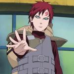 Gaara aus dem Anime Naruto.