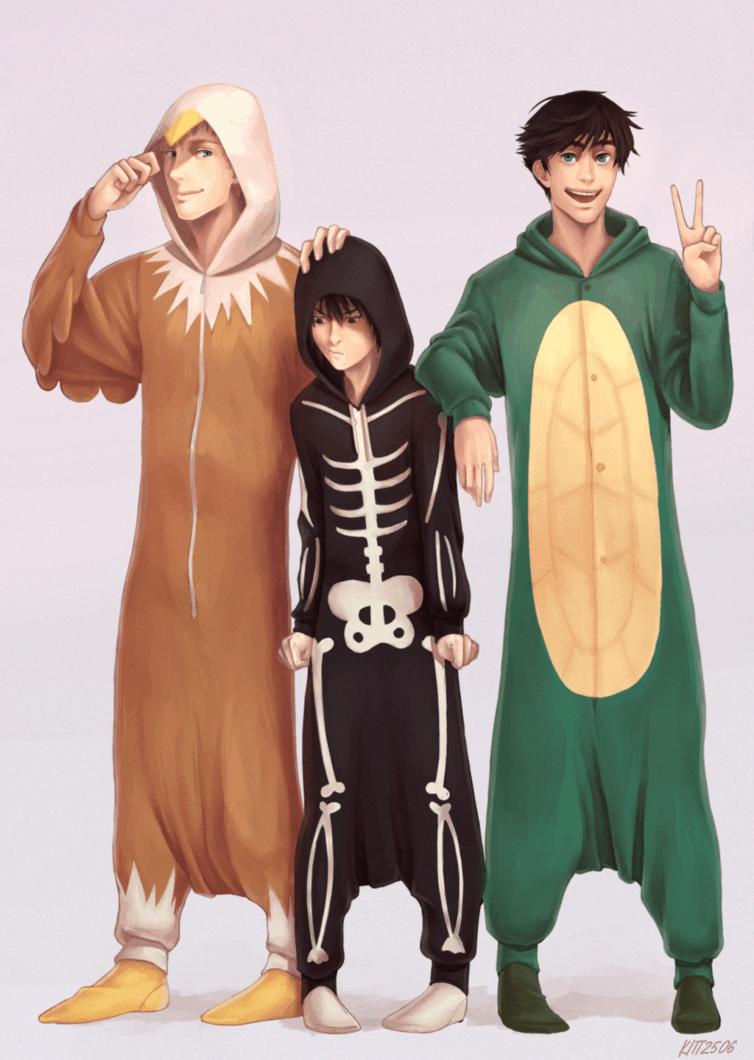 Jason, Nico und Percy c: Auch ein cooles Bild.