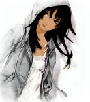 TRAINER: Name: Lou Geschlecht: weiblich Alter: 15 Aussehen: leicht gebräunte Haut, dunkle Augen und dunkle Haare Klamotten: ein weißes Shirt, darüb