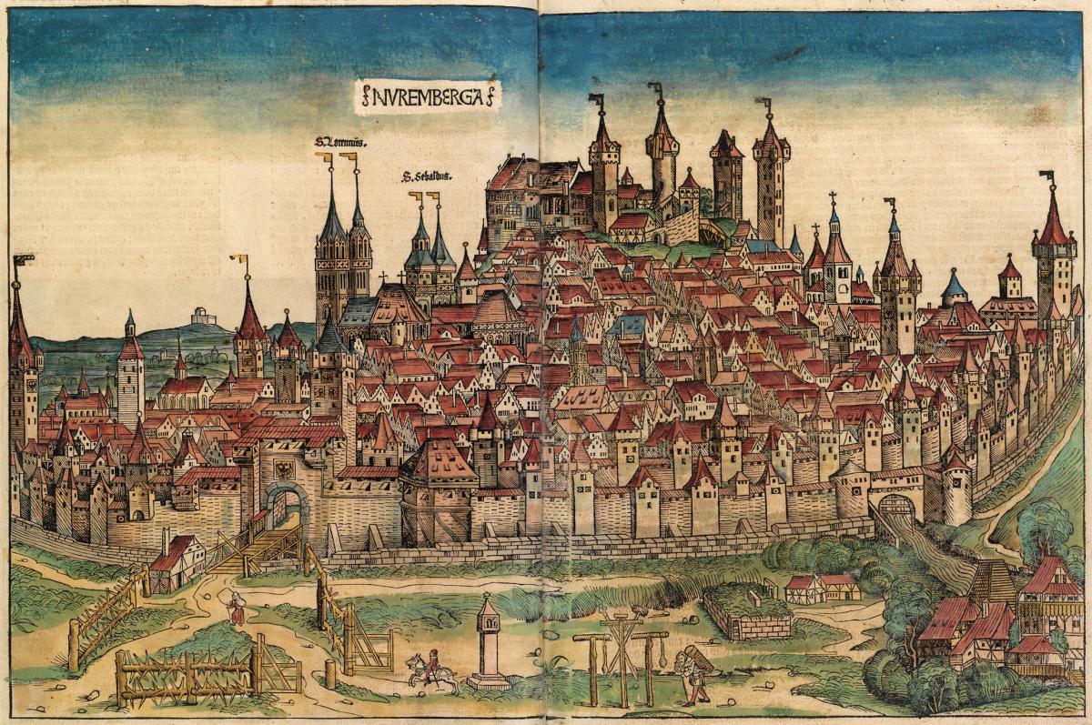 Die Stadt! Unsere Stadt heißt Nuremberga! Es ist eine große, am Meer liegende Stadt! -Bäckerei -Schmiede -Waffenladen -Tavernen -Staatsgebäude -Sc