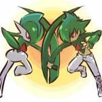 ((bold))Und ein Junge von Sun!((ebold)) Name: Felix Alter: 13 Pokemon: Galagladi Aussehen: grüne kurze Haare, rote Augen, grünen Pulli mit roter Ver