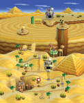 Die 2 Welt von Paper Mario Color Splash ist eine Wüstenweld?
