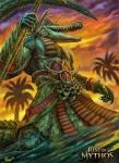 Sobek Er ist der Gott des Nils und der Fruchtbarkeit. Sein Tier ist das Krokodil.
